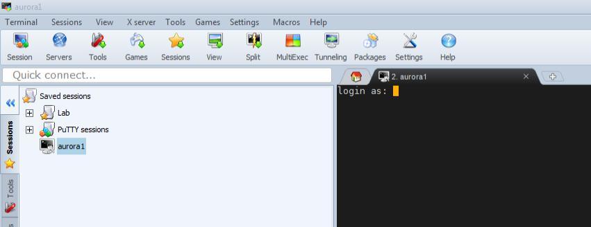 Tutorial - Login using MobaXterm (Windows)   LUNARC